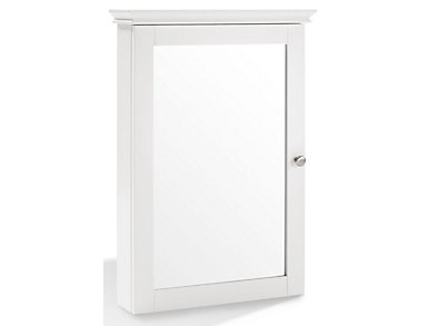 Clinton White Mirror Cabinet, , large