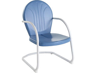 Daisy Blue Lounge Chair, , large