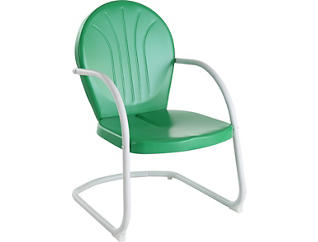 Daisy Green Lounge Chair, , large