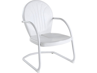 Daisy White Lounge Chair, , large