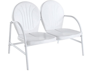 Daisy White Loveseat, , large