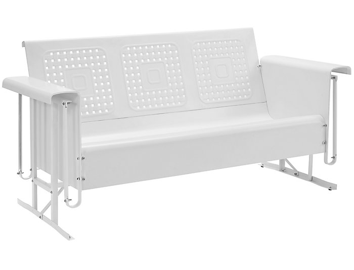 Bates White Glider Sofa Large