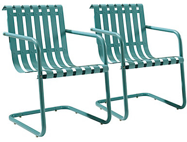 Gracie Blue Chairs (Set of 2), , large