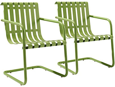 Gracie Green Chairs (Set of 2), , large