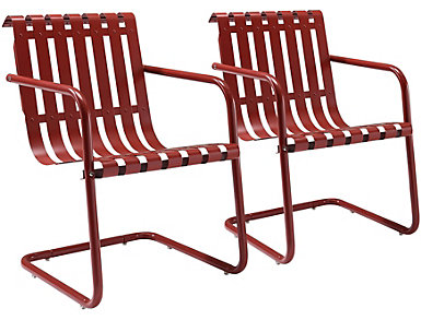 Gracie Red Chairs (Set of 2), , large