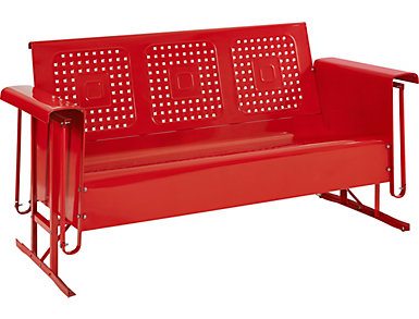Bates Red Glider Sofa, , large