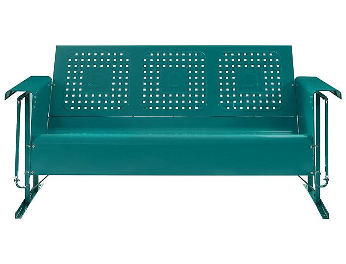 Bates Teal Glider Sofa Large