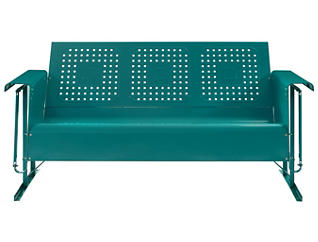 Bates Glider Sofa, Teal, large
