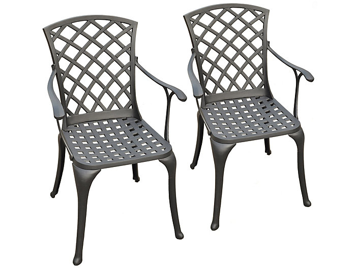 Ft Wayne Black Arm Chair Set Of 2