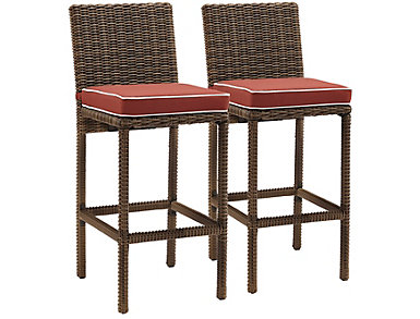 Bradenton Red Barstools- Set2, , large