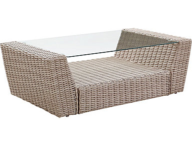 Cocoa Beach Weathered White Coffee Table, , large