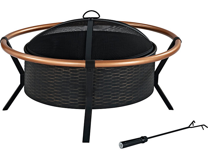 Howard Wooden Firepit, , large