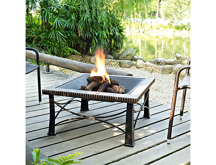 Grove Wooden Firepit, , large