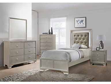 Lyssa Champagne Youth Dresser, , large