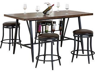 Joshua Counter Table & 4 Stool, , large