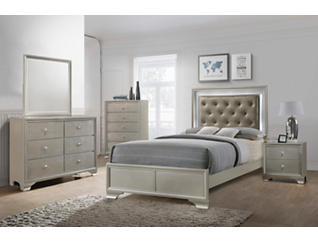 Lyssa Champagne Full Bed, , large