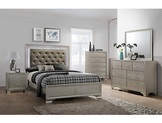 Lyssa Champagne Queen Bed, , large