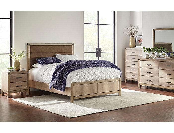 Matteo Driftwood 3 Piece Queen Bedroom Set, , Large