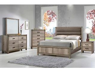 Matteo Driftwood Queen Bed, , large