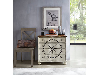 Compass Rose Nautical Cabinet, , large