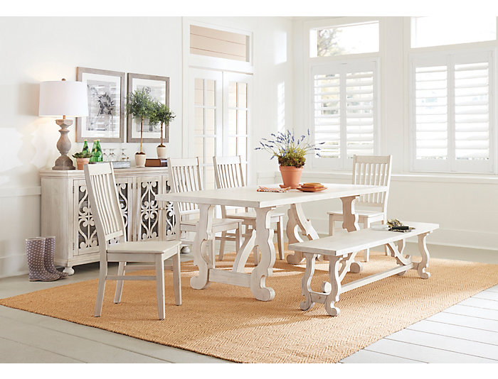 Orchard Park Weathered White Dining Table