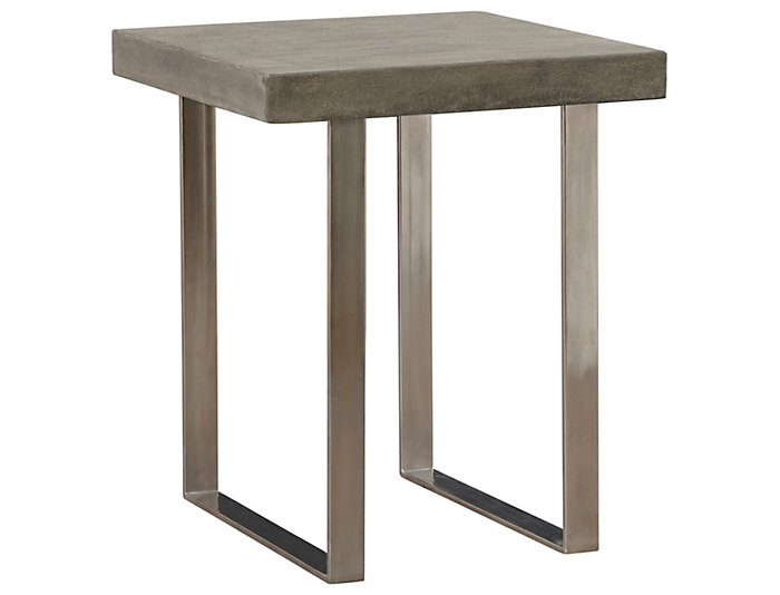 Portland Square End Table Grey Large