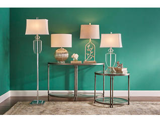 Ribbed Mercury Table Lamp, , large