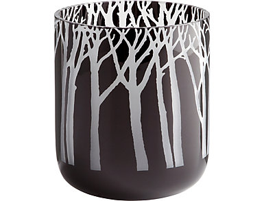 Small Obsidian Forest Vase, , large