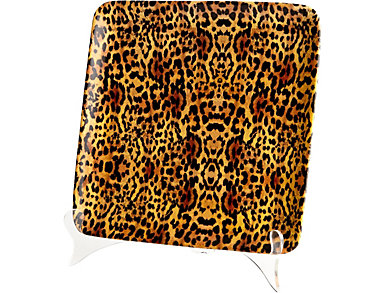 Leopard Ceramic Tray, Small, , large