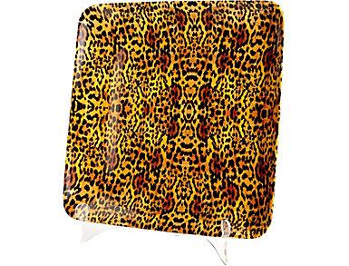 Leopard Ceram Tray, Large, , large