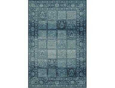 Beckham Blue Patch 4'11x7'5, , large