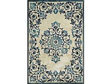 Beckham Ivory Blue 4'11x7'5, , large