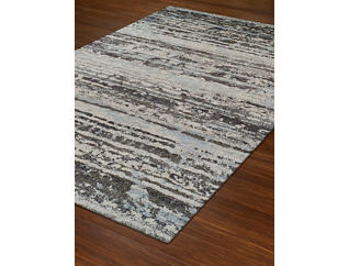 Gala Grey Striated 5' x 8' Rug, , large