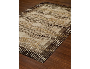 "Gala Chocolate Border 4'11"" x 7' Rug, , large"