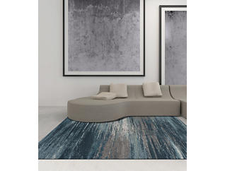 Modern Greys Teal 8' x 11' Rug, , large