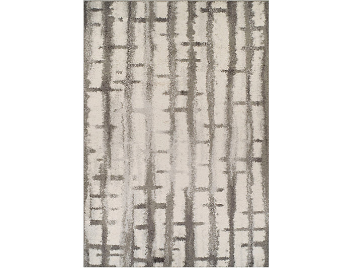 """Rocco Abstract Silver 5'1""""x7'5, , large"""