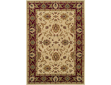 "Wembley Ivory Red 5'1""x7'5""Rug, , large"