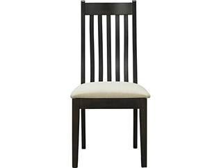 Detroit Dining Upholstered Slat Back Chair, , large