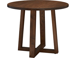 "Detroit Dining 36"" Round Dining Table, Caramel, large"