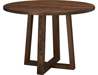 "Detroit Dining 42"" Round Dining Table, Caramel, large"