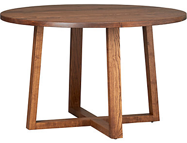 "Detroit Dining 48"" Round Dining Table, Caramel, large"
