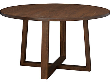 "Detroit Dining 52"" Round Dining Table, Caramel, large"