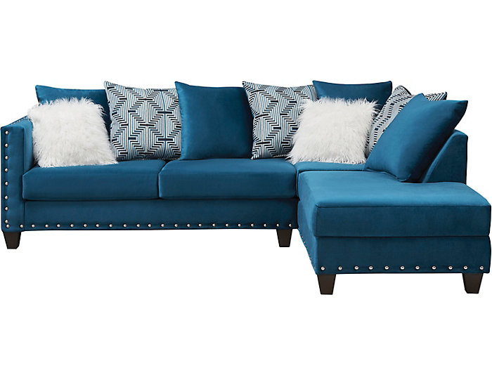 Groovy Sapphire 2 Piece Sectional With Right Arm Facing Chaise Short Links Chair Design For Home Short Linksinfo