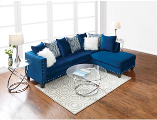 Sapphire 2-Piece Sectional with Right-Arm Facing Chaise, , large