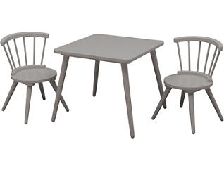 Windsor Table & Chair Set-Grey, , large