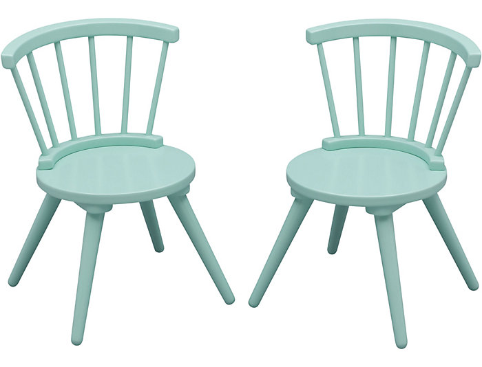 Windsor Table & Chair Set-Aqua, , large
