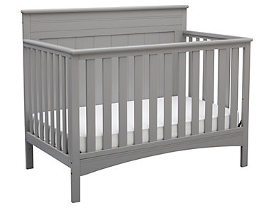 Fancy Convertible Crib - Grey, , large
