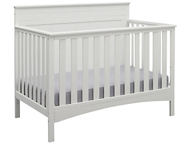 Fancy Convertible Crib - Wht, , large