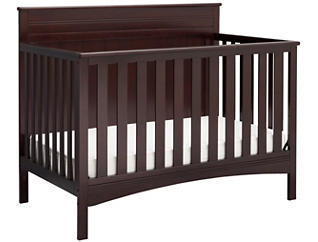Fancy Convertible Crib - Brown, , large