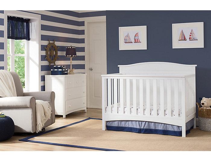 Bennett Convertible Crib - Wht, , large